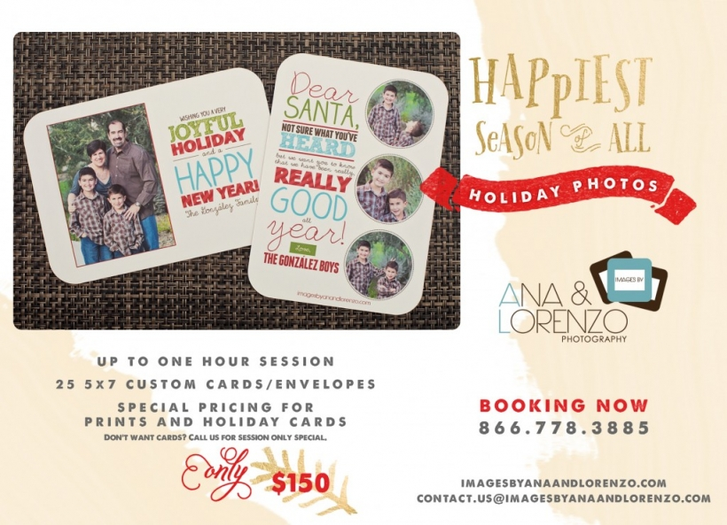 Holiday Portrait Sessions - Images by Ana & Lorenzo Photography